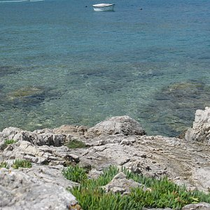 The crystalline water from the rocks