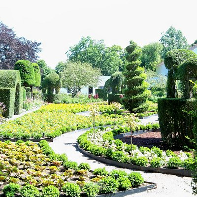 Gardens are colorful and varied.