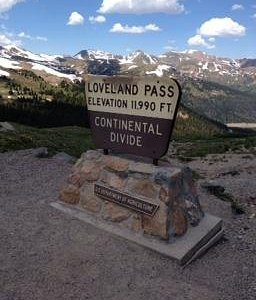 loveland pass on route 6 in rockies! so beautiful!