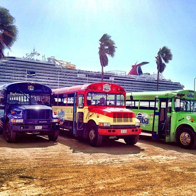 The beautiful busses on the terminal
