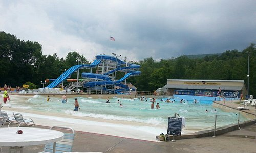 Wave pool and some slides.