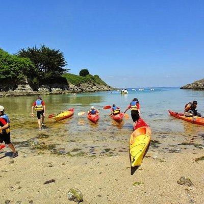 kayak à Port Fouquet