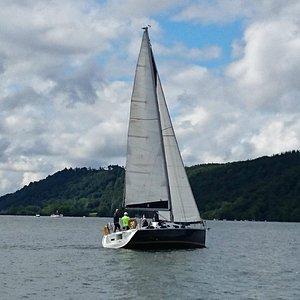Maddie Too under sail