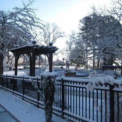 Paul Anderson Memorial Park in the snow