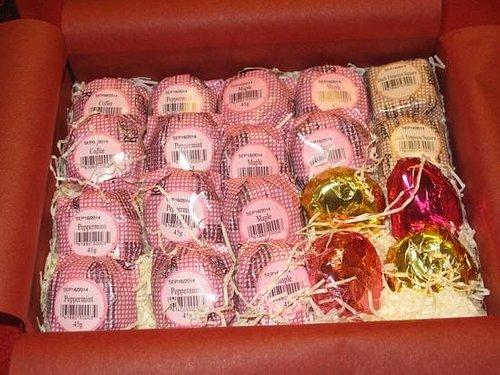 My first box of custom 20 piece Victoria Creams, delicious!!