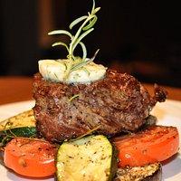 Medium done steak