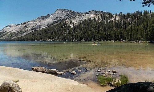 western edge of lake
