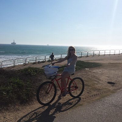 Biking the North Huntington beaches