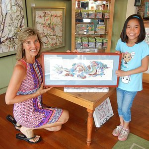 Sherri Reeve was so kind to our daughter, both seen here with our new 1/50 Blue Dragon print.