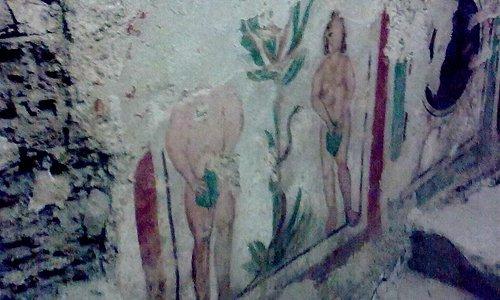 Adam and Eve fresco