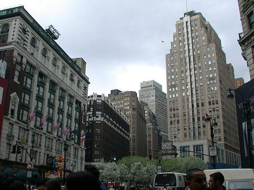 Herald Square, looking up Broadway