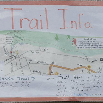 Trail map near University