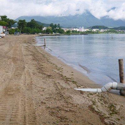 真野浜水泳場排水管