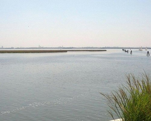 Vista di venezia dal parco san giuliano