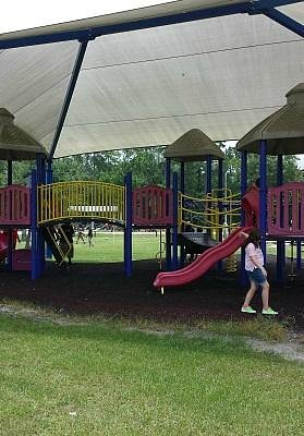 Fun for the kiddos, and the play areas are covered
