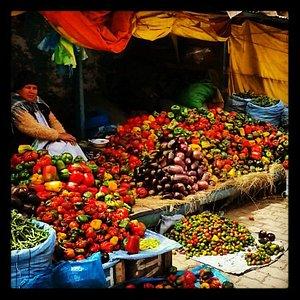 Local markets in La Paz