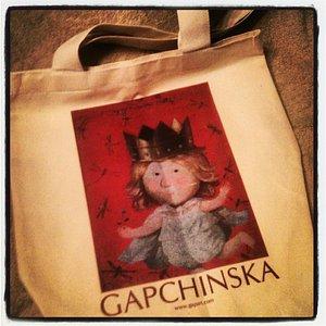 Купленная сумка с картинкой Гапчинской