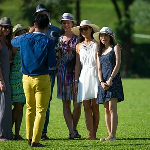 visitors to the polo match