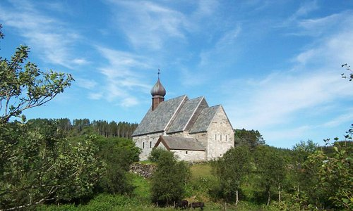 Dønnes kirke sett fra sør.