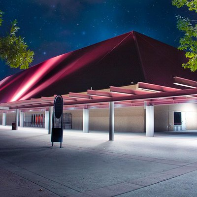 Casper Events Center at night