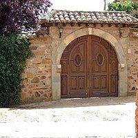 Ornate entrance door