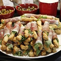 Prosciutto sticks. Great for an appetizer.