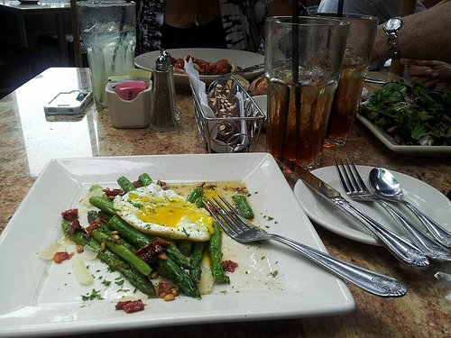 Asparagus with egg for brunch.  yum