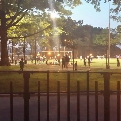 Playing sports in sunset park