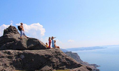 Hiking at Brufjell in Flekkefjord