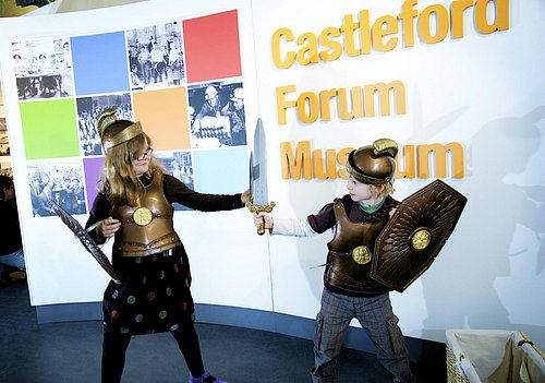 Roman soldiers in training at Castleford Museum