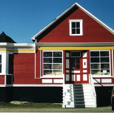 The historic J. Kean Shop is the home of Norton's Cove Studio.