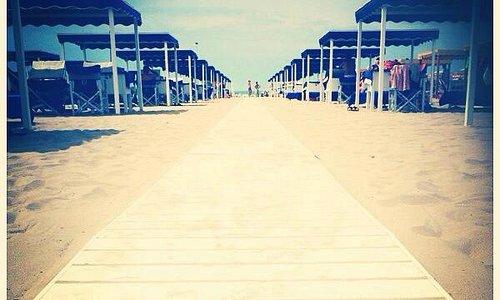 la spiaggia a vista d'occhio
