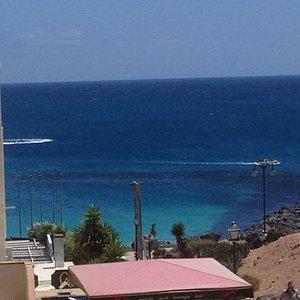view down to Dorada Beach  from DJ Sports
