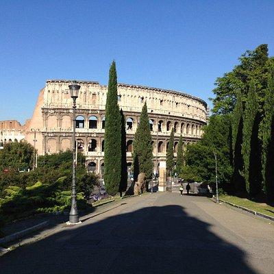 si vede il Colosseo