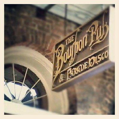 Bourbon Pub Signage