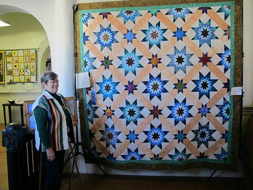 Quilts on second floor, quilt show Feb-Mar each year