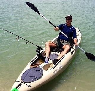 My husband is Ready for Fishing check out the seat upgrade (Norris's Idea Love It!)