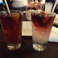 Bebidas de limonada al vino tinto