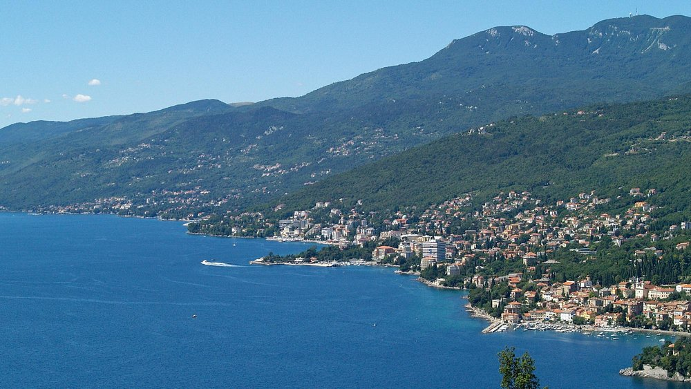 Panoramic view to Opatija and Ucka Mountain