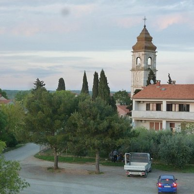 Church of Saint Spiridon from Sunset Holiday House