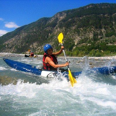 Kayak-raft sur le Var.