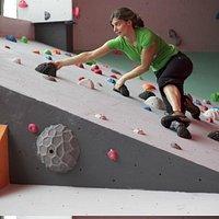 Lady climbing