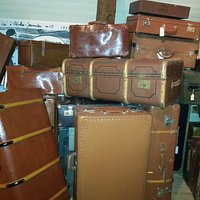 Unica suitcases displayed at Vadsbo Museum
