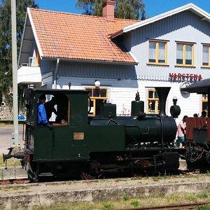 Steam locomotive in Station