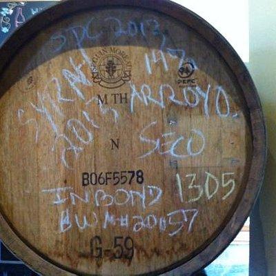 syrah in barrel
