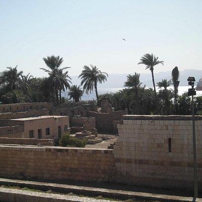 アカバ要塞と海
