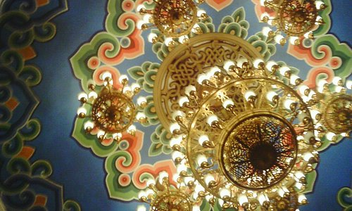 Opera House Chandalier and central rose decoration