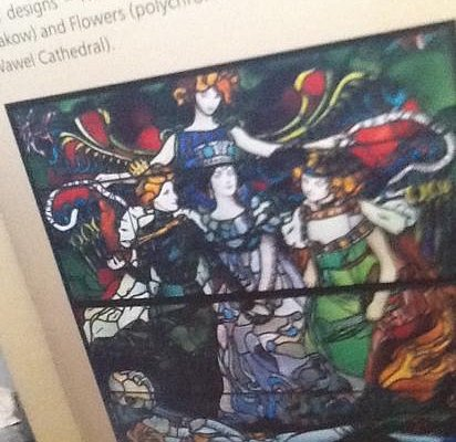 illustration of stained glass from tourist brochure