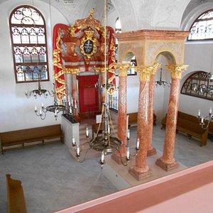 Horni synagoga - wnętrze