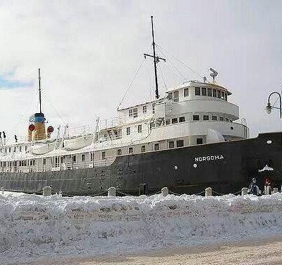Museum Ship Norgoma during Bon Soo celebrations.